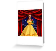 Beauty And The Beast Princess Greeting Card