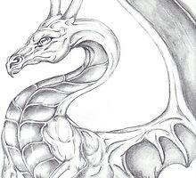 pencil dragon by Jenine Jones