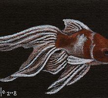 Fancy Gold - Fantailed Goldfish by John Houle