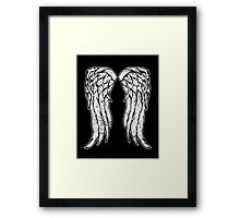 Daryl Dixon Angel Wings - The Walking Dead (dirty) Framed Print