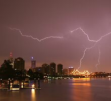 Thunderstorm - Brisbane City by Ben Messina