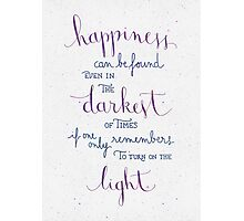 """Harry Potter """"Happiness can be found ..."""" Photographic Print"""