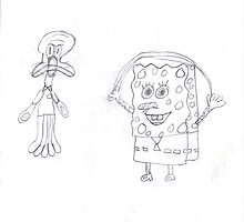 spongebob and friends by Linda Sannuti