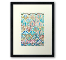 Vintage Twenties Art Deco Pastel Pattern Framed Print