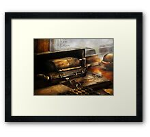 Accountant - The Adding Machine Framed Print