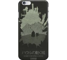 Howl's Moving Castle minimalist movie poster iPhone Case/Skin