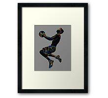 Silhouette Slam Dunk  Framed Print