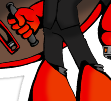 Protoman in a black tux  Sticker