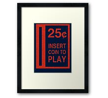 Coin-Op T-shirt Framed Print