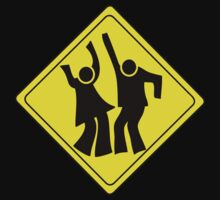 DANCERS CROSSING WARNING ROAD SIGN by SofiaYoushi