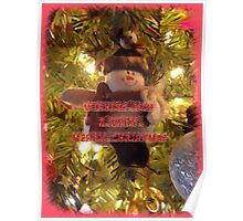 Merry Christmas Card for You Poster
