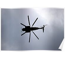 Caution Chopper Overhead Poster