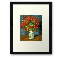 'Red Poppies' by Vincent Van Gogh (Reproduction) Framed Print