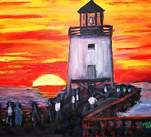 Sunset at Charlevoix by Phil Cashdollar