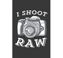 I Shoot RAW - White Photographic Print