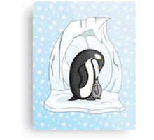 Davin and Annie the Penguins Metal Print