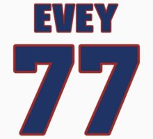 National football player Dick Evey jersey 77 by imsport