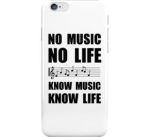 Know Music Know Life iPhone Case/Skin