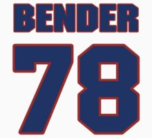 National football player Jacob Bender jersey 78 by imsport