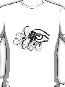 floral grunge eye T-Shirt