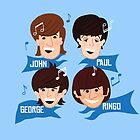 Fab Four Lads by JohnDC