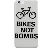 bikes not bombs iPhone Case/Skin