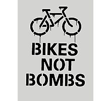 bikes not bombs Photographic Print