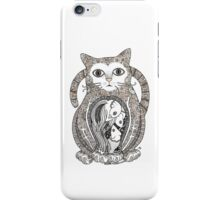 Contented Cat Tee iPhone Case/Skin