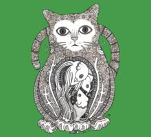 Contented Cat Tee Kids Clothes