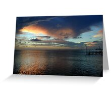 Sunset from the Dock Greeting Card