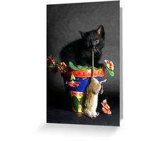Rat Cat Greeting Card