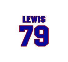 National football player Butch Lewis jersey 79 Photographic Print