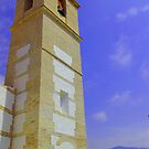 Bell Tower, Casares, Andalucia, Spain by Rebecca Silverman