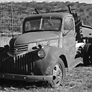 Old Truck: Black and White by Paul  Huchton