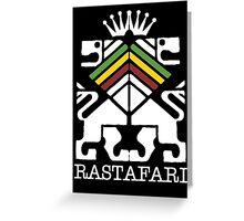 Rastafari WHT Greeting Card