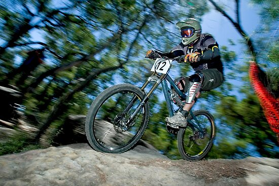 Downhill Mountain Bike by Simon Hodgson