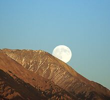 Moon over Mt. Blanca by Jody Johnson