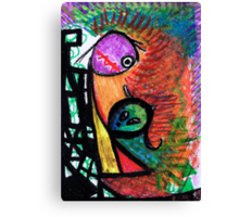 Suffocation - oil pastel on paper drawing Canvas Print