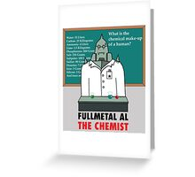 Fullmetal Al The Chemist Greeting Card