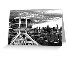 Melbourne Star View BW Greeting Card