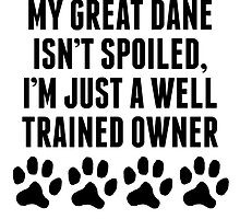 Well Trained Great Dane Owner by kwg2200