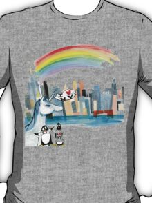 Unicorn and Penguins go to NYC T-Shirt