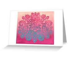 Ombre Folk Art Doodle Greeting Card