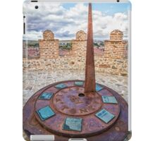 Solar Clock at The Walls of Avila iPad Case/Skin