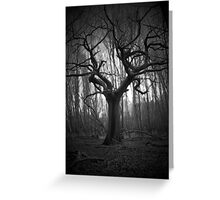 haunted tree Greeting Card