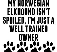 Well Trained Norwegian Elkhound Owner by kwg2200