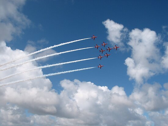 Red Arrows by Mike Paget