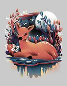 The Red Deer by Dan Elijah Fajardo