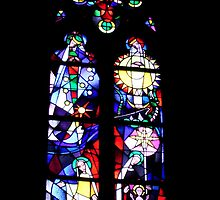 Chagall's window, Mainz by Elaine Stevenson