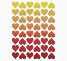 Cascading Hearts Kids Clothes